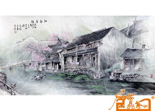 江南山水桥简笔画
